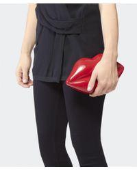 Lulu Guinness - Red Perspex Lips Clutch Bag - Lyst