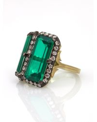 Sylva & Cie | Green Beryl Doublet Ring | Lyst