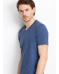 Vince - Blue Favorite Heathered Jersey V-neck Tee for Men - Lyst
