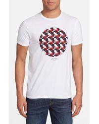 Ben Sherman - White 'Track Geo' Graphic T-Shirt for Men - Lyst