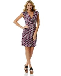 Laundry by Shelli Segal Pink Printed Twist-Front Dress