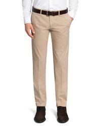 BOSS Natural Regular-fit Trousers In Cotton Blend: 'crigan2-d' for men