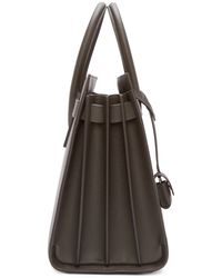 Saint Laurent - Gray Taupe Leather Small Sac Du Jour - Lyst
