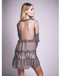 Free People - Gray For Love & Lemons Womens Alexa Mini Dress - Lyst