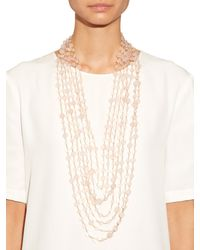 Rosantica By Michela Panero | Pink Pegaso Rose Quartz Multi-layer Necklace | Lyst