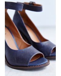 Kelsi Dagger Brooklyn Blue Battle Peep-Toe Heel
