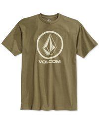 Volcom | Green Circle Stone Graphic-print Logo T-shirt for Men | Lyst