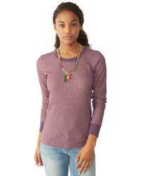 Alternative Apparel | Purple Cozy Thermal Top | Lyst
