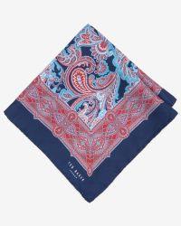 Ted Baker - Blue Silk Paisley Pocket Square for Men - Lyst