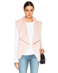 Nicholas Pink Knitted Fur Vest