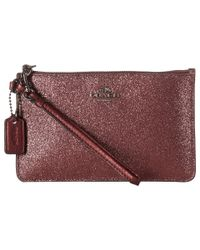 COACH | Red Box Program Glitter Small Wristlet | Lyst