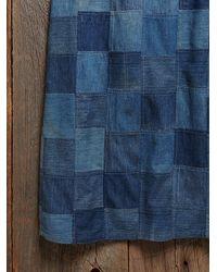 Free People - Blue Vintage 1970s Patchwork Denim Skirt - Lyst