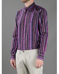 Etro Purple Striped Shirt for men