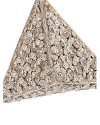 Ileana Makri - Metallic White-Diamond & White-Gold Pyramid Earrings - Lyst