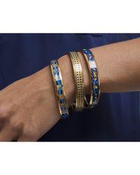 Hermès - Black Pre-owned Blue Ribbon Enamel 65 Bangle - Lyst