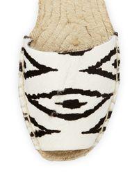 Cynthia Vincent | Black Farie Zebra-print Ankle-wrap Sandal | Lyst