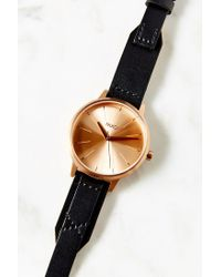 Nixon | Pink Kensington Leather Rose Gold Watch | Lyst