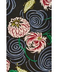 SUNO Multicolor Whimsical Floral Jacquard Boxy Top