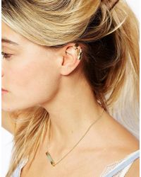 ASOS - Metallic Pack Of 4 Cuff Earrings Pack - Lyst