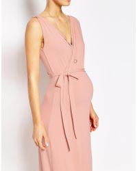 ASOS | Pink Drape Maxi Dress | Lyst