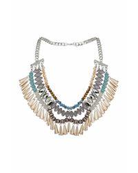 TOPSHOP - Blue Faceted Drop Statement Necklace - Lyst
