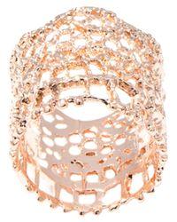 Aurelie Bidermann - Pink Lace Ring - Lyst