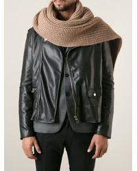 AMI Brown Chunky Scarf for men