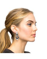 Lulu Frost - White Crystal and Resin Spike Earrings - Lyst