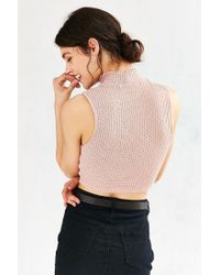 Silence + Noise | Pink Marled Mock-neck Tank Top | Lyst