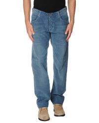 Care Label Blue Casual Trouser for men