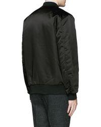 Acne Studios Black 'selo' Bomber Jacket for men