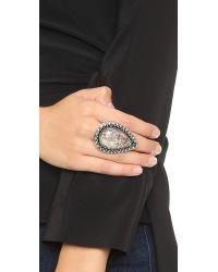 Samantha Wills Gray Bohemian Bardot Ring - Antique Silver/grey