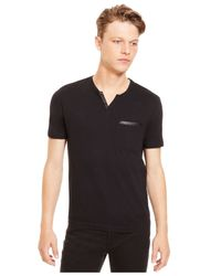 Kenneth Cole Reaction | Black V-neck Contrast-trim T-shirt for Men | Lyst