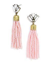 BaubleBar | Pink Acid Fringe Tassel Drops | Lyst