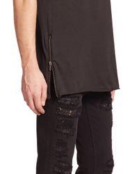 BLK DNM - Black Side-zip Crewneck Tee for Men - Lyst