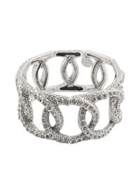 Philippe Audibert | Metallic Princess Strass Links Bracelet | Lyst