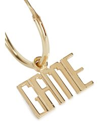 MFP MariaFrancescaPepe | Metallic Game Over 23kt Gold-plated Hoop Earrings | Lyst