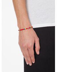 Luis Morais | Red Mini Skull Beaded Bracelet | Lyst