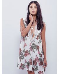 Free People | White Bib Dress | Lyst