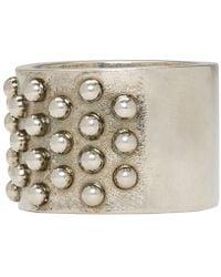 Alexander McQueen | Metallic Silver Liliput Ring for Men | Lyst