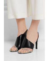 Alexander Wang Black Benoit Lizard-effect Leather Sandals