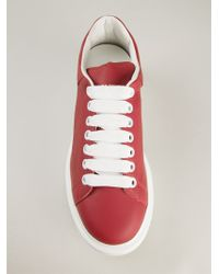56af3c729a7af Lyst - Alexander McQueen Extended Sole Leather Sneakers in Red for Men