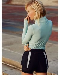 Free People | Blue Get Movin' Smooth Turtleneck | Lyst