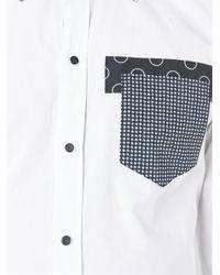 Dolce & Gabbana - White Patch Pocket Shirt for Men - Lyst