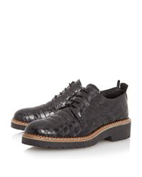 Dune Black | Black Farra Cleated Lace Up Shoes | Lyst