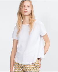 Zara | White A-line T-shirt | Lyst