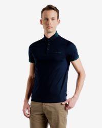 Ted Baker - Blue Colour Block Polo Shirt for Men - Lyst