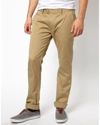 DIESEL - Natural Chinos Chi Tight E Slim Fit Washed for Men - Lyst