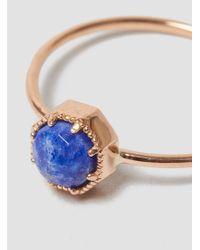 Grace Lee Metallic Crown Bezel Ring 14k Rose Gold