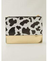 Moschino - White Cow Print Clutch - Lyst
